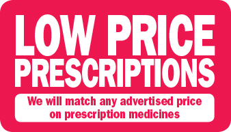 We will price match any advertised price on prescription medicines