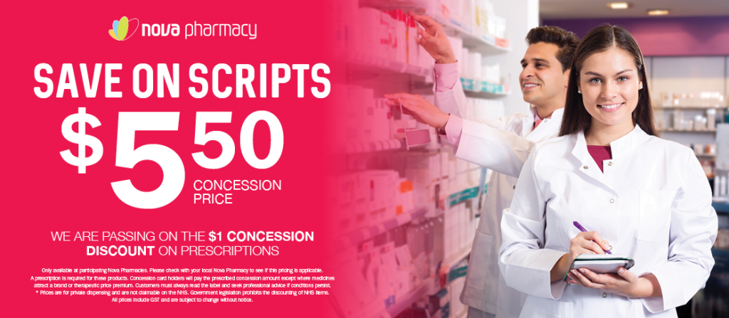 Save on Scripts from $5.50 Concession