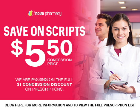Save on Scripts $5.50 Concession prices