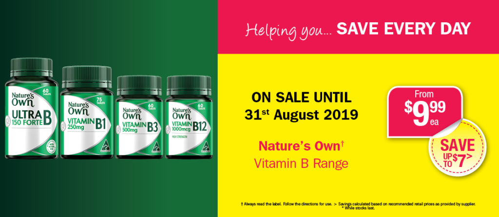 Natures Own B's Range From $9.99