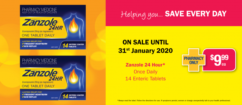 Zanzole 24 Hour Once Daily 14 Enteric Tablets $9.99