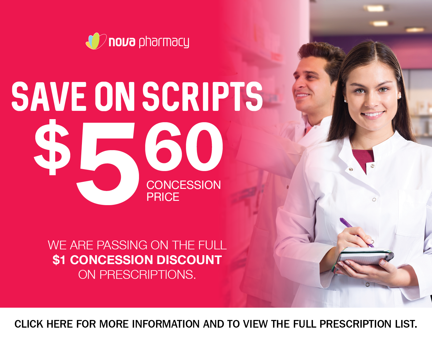 Save on Scripts $5.60 Concession prices
