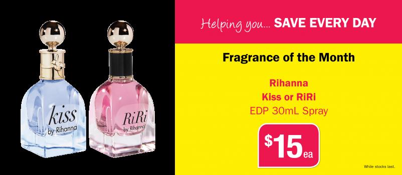 Rihanna Kiss or RiRi EDP 30mL Spray $15 Each