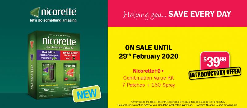 NEW Nicorette Combination Value Kit $39.99