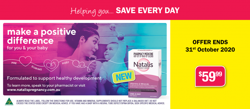 New Natalis Pregnancy Vitamin 100 Tablets $59.99