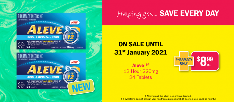 NEW Aleve 12 Hour 24 Tablets $8.99 each